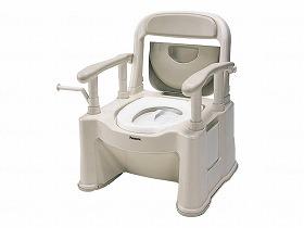 ポータブルトイレ座楽背もたれ型SP