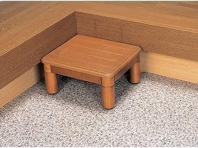 木製玄関ステップ1段400