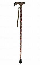 夢ライフステッキ ショート柄杖折りたたみ伸縮型