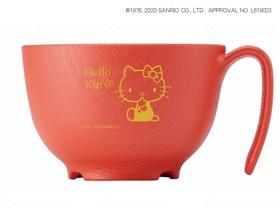 木目もちやすい・すくいやすい(ハローキティ)茶碗ハンドル付