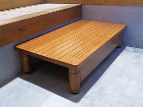 木製玄関ステップ