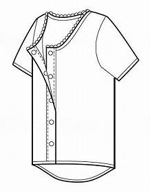 ホック式ワンタッチ肌着婦人用(3分)