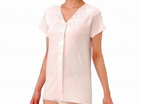 婦人(おしゃれタイプ)ワンタッチ3分袖シャツ