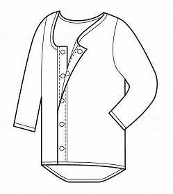 紳士ソフトワンタッチ7分袖シャツ