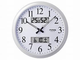 MAGダブルリンク電波掛時計