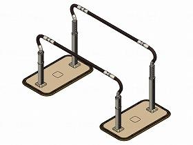 歩行サポート手すりスムーディ伸縮 両手すり 標準タイプ