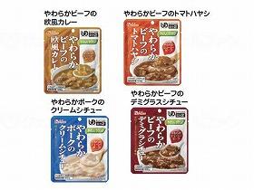 やさしくラクケア やわらか肉のレトルト洋風惣菜  4種4個セット