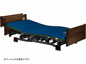 介護用2モーターベッド ミオレットII (レギュラータイプ) 木製宮付