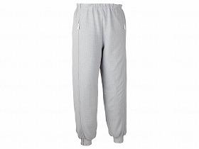 スクエアニット裾リブ付き全開ズボン