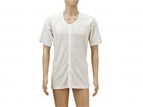 ひば前開き5分袖(ラグラン袖)紳士用