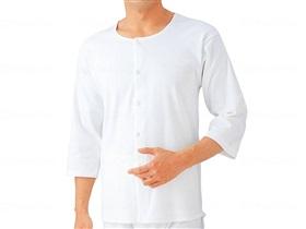 7分袖釦付きシャツ(紳士用)
