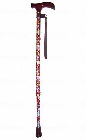アルミ2段式 花柄(楓グリップ)