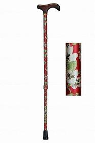 アルミ製花柄伸縮杖