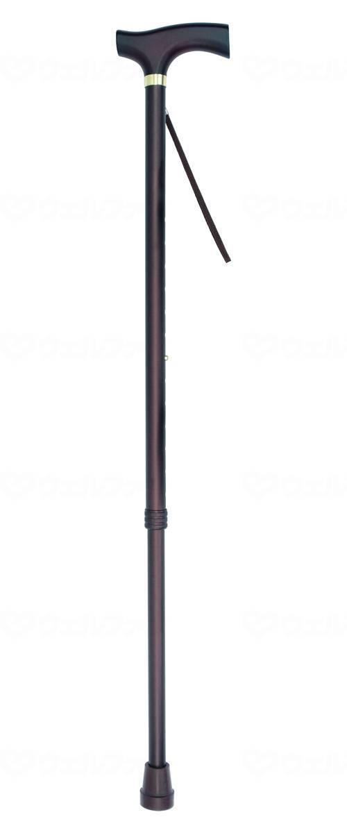 伸縮木製グリップ杖