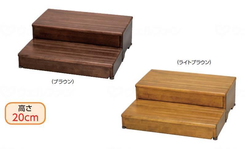 木製玄関台 60W-30-2段の画像