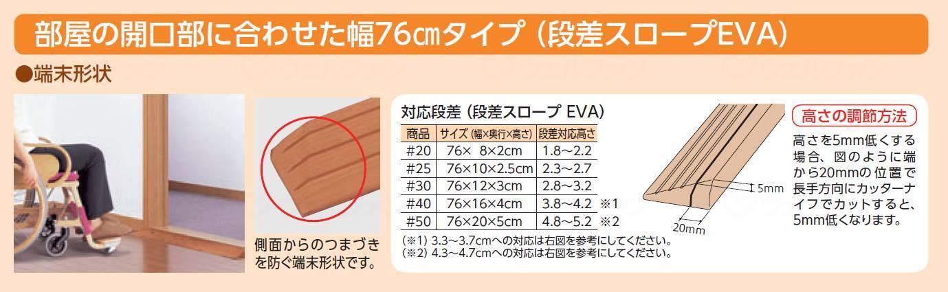 段差スロープEVA 2.5cmの画像