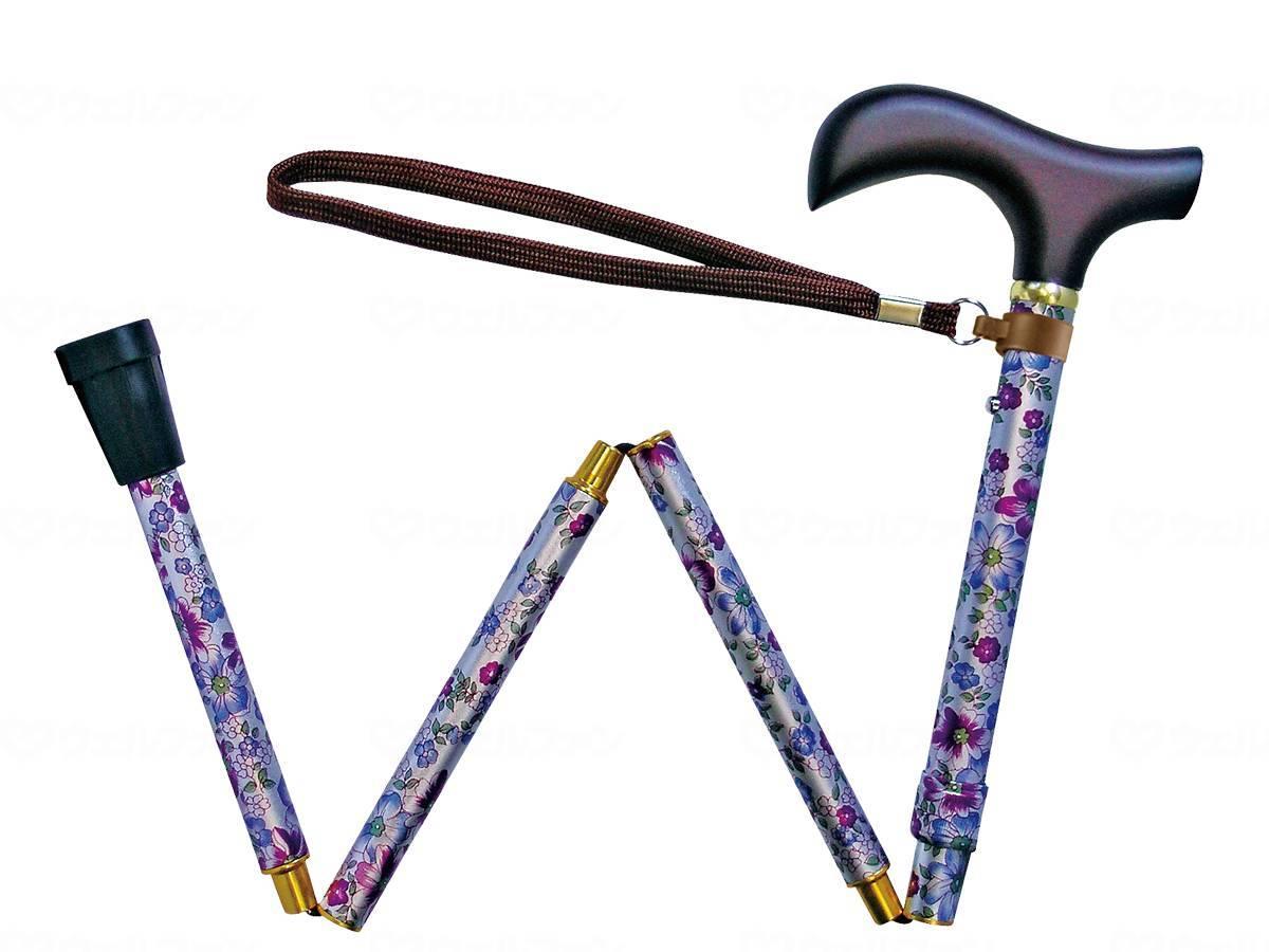 夢ライフステッキ 柄杖折りたたみ伸縮型 ギフトボックス仕様の画像