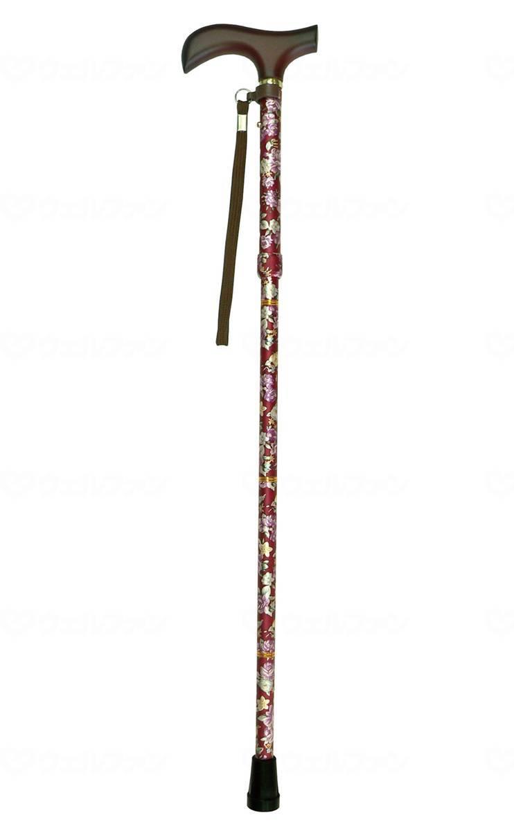 夢ライフステッキ ショート柄杖折りたたみ伸縮型の画像