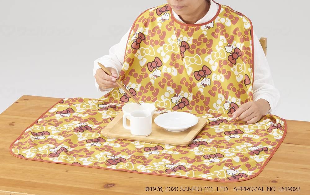お食事エプロン(ハローキティ)の画像