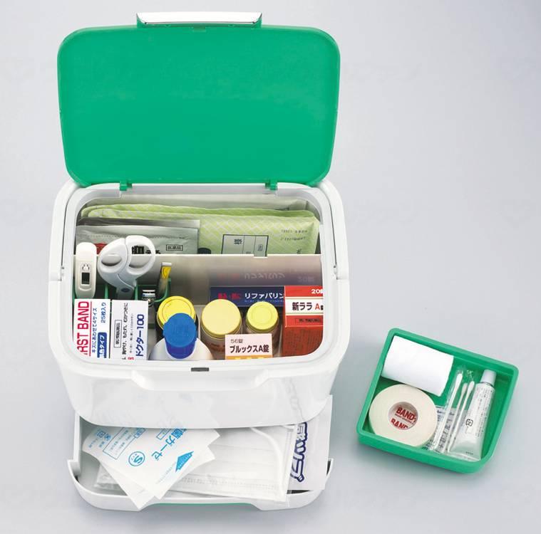 収納上手な救急箱の画像