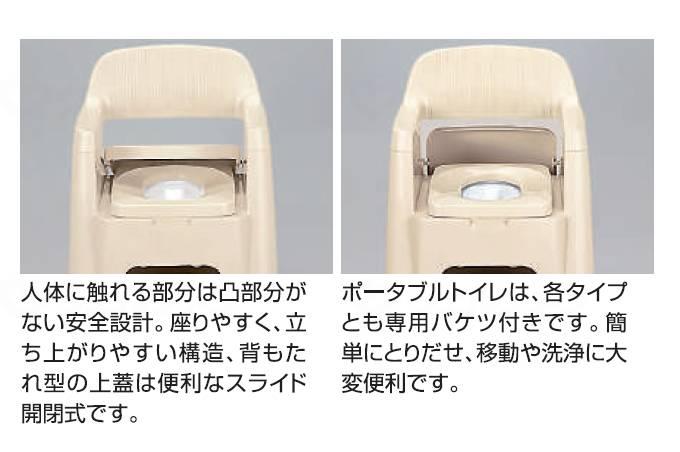ポータブルトイレ背もたれ型の画像