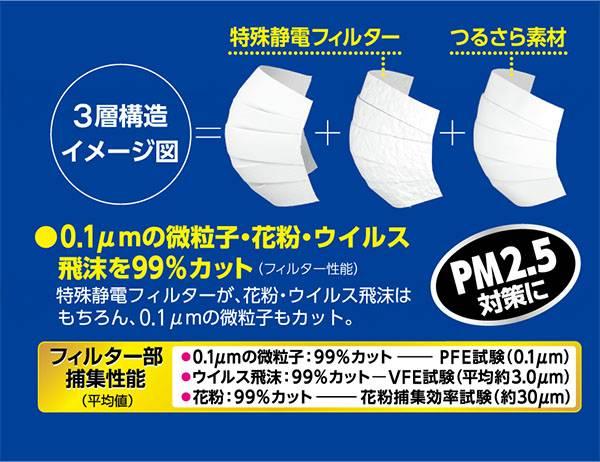 快適ガードさわやかマスク30枚入 【ケース販売】の画像