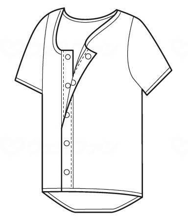 ホック式ワンタッチ肌着紳士用(半袖)
