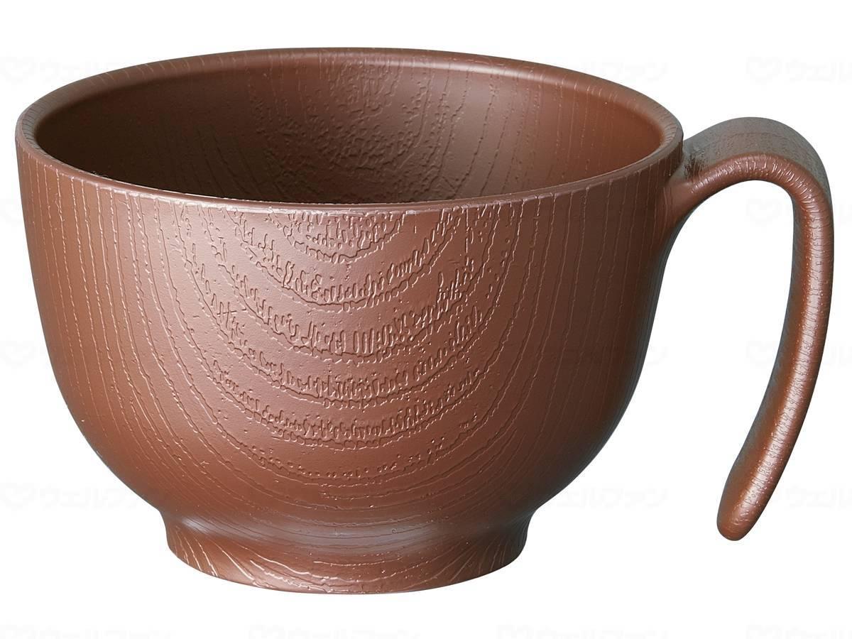 木目持ちやすい茶碗ハンドル付