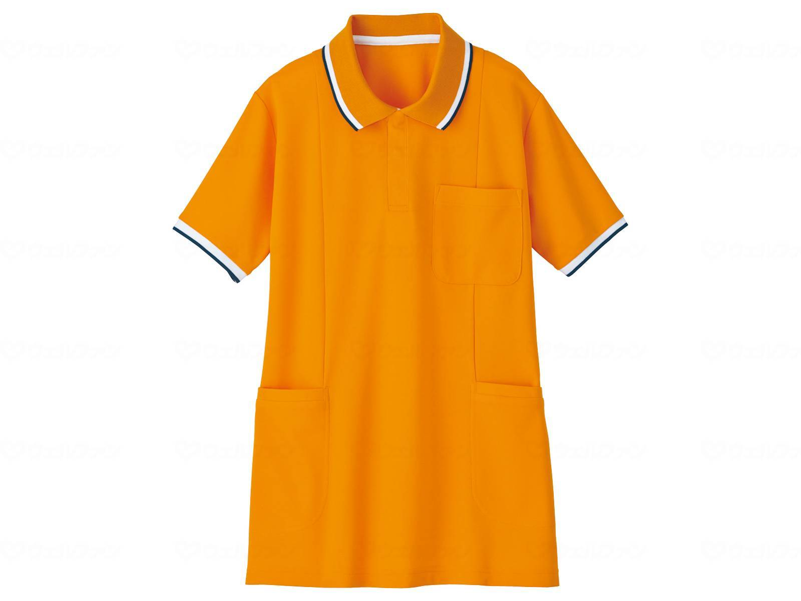 WHISEL 半袖ロングポロシャツ WH90338