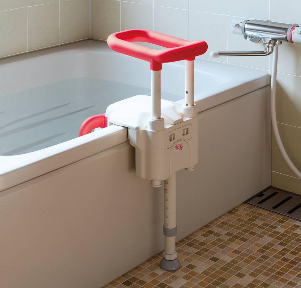 ユニットバス対応浴槽手すりUST130UBショートの画像