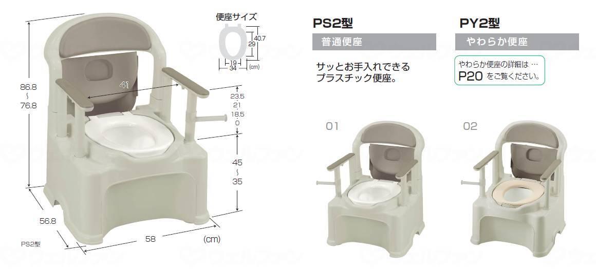 ポータブルトイレきらくPY2型の画像