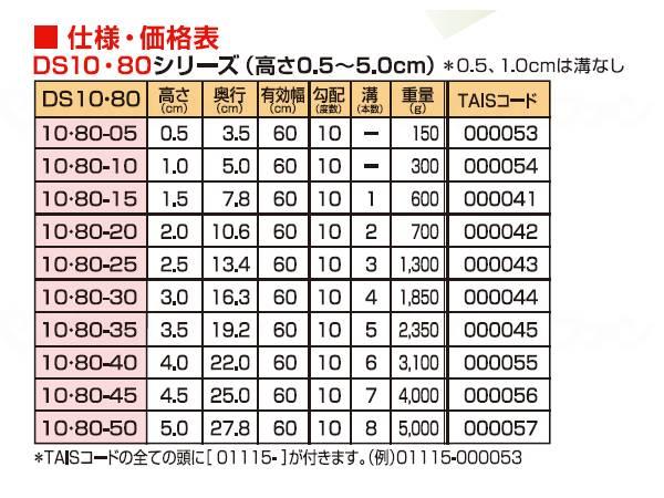 ダイヤスロープ10° 80cm幅(DS10/80) 80-50の画像