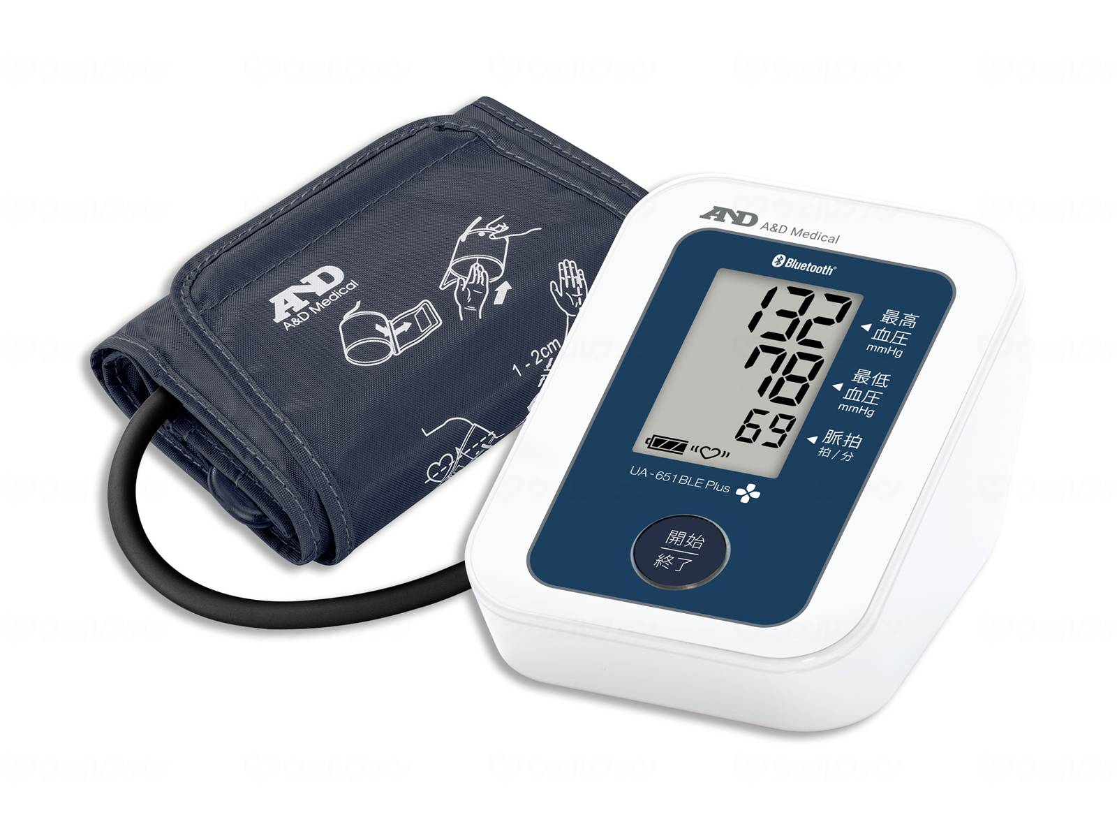上腕式血圧計UA651BLEPlusの画像