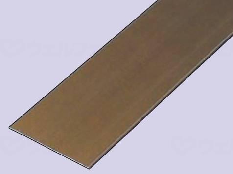 バリアフリーレール(フラットタイプ)100×2000 ブロンズ