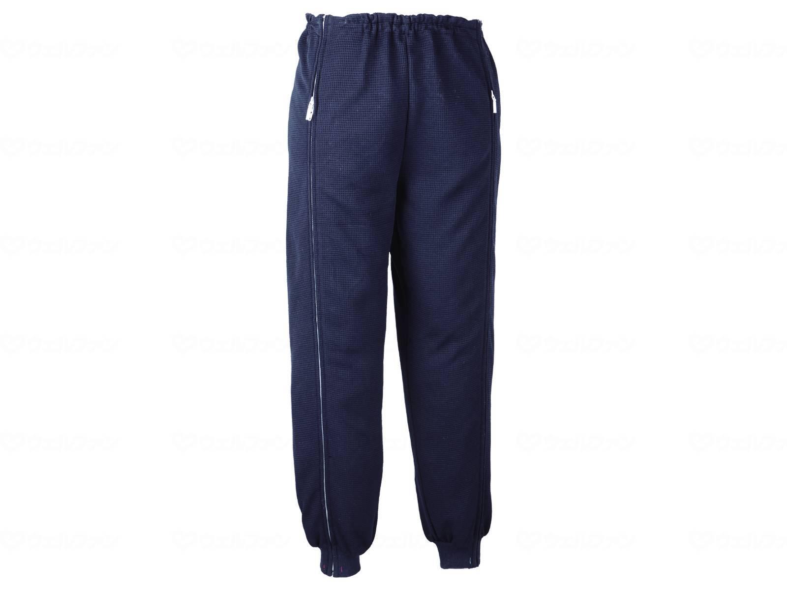 スクエアニット裾リブ付き全開ズボンの画像