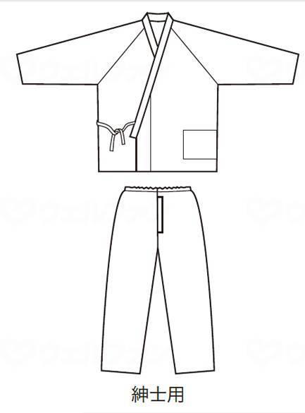 パジャマ型ねまき・紳士(通年用)の画像
