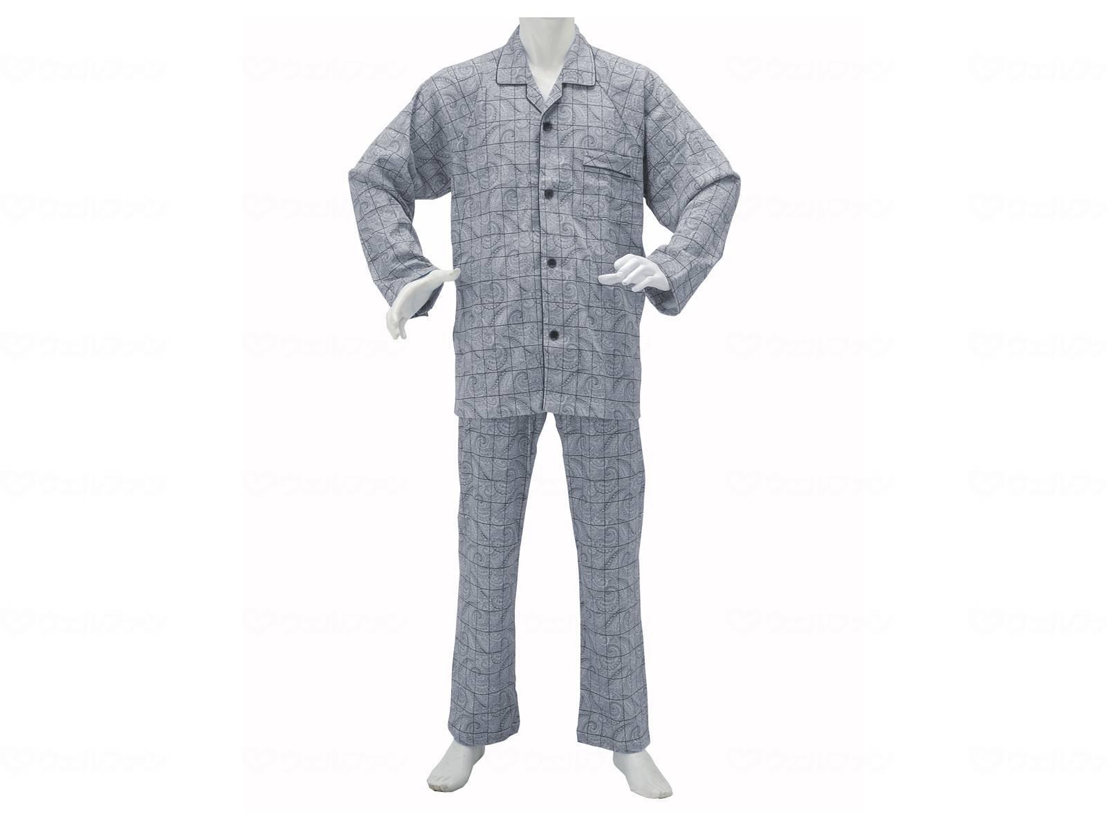 紳士楽らくパジャマ ペーズリー柄の画像