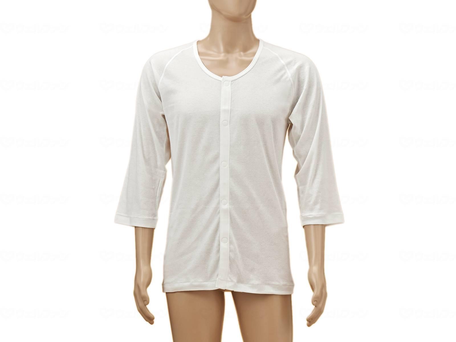 ひば前開き7分袖(ラグラン袖)紳士用の画像