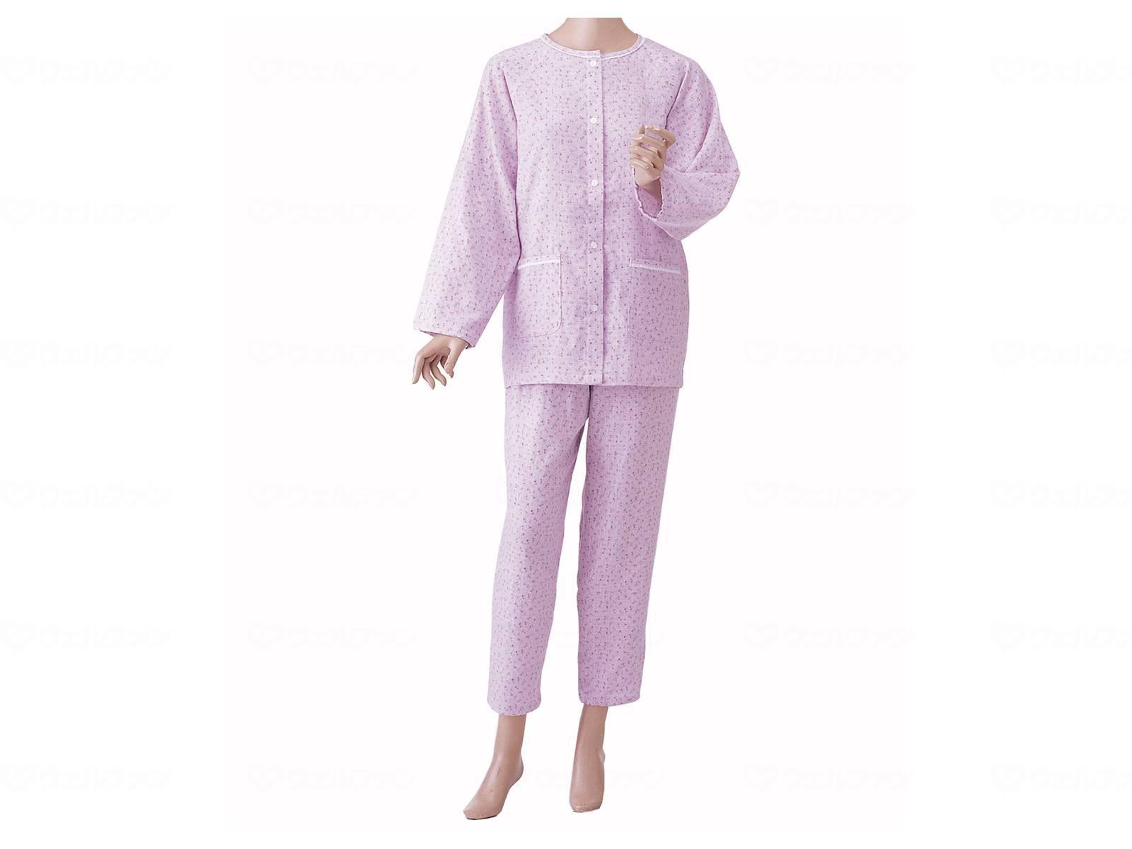 婦人用 楽らくガーゼパジャマ長袖の画像
