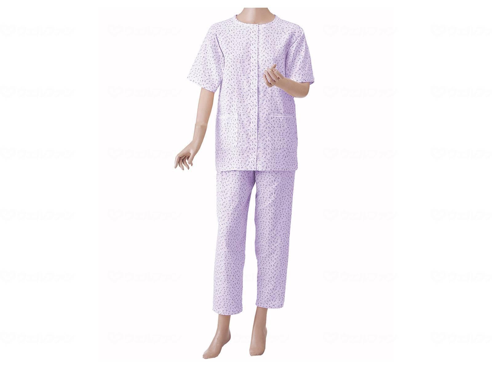 婦人用 楽らくガーゼパジャマ半袖の画像