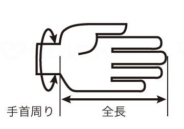 浴用オーガニックコットン手袋の画像