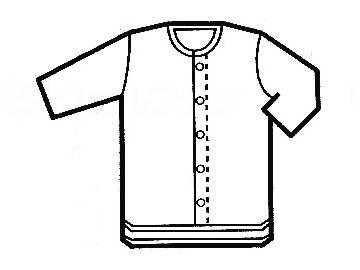 グンゼ7分袖クリップシャツ LLの画像